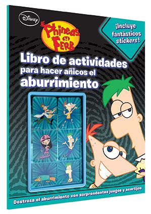 Disney Phineas y Ferb Actividades con Stickers