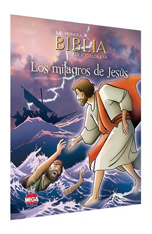Mi primera Biblia para colorear. Nuevo Testamento: Los Milagros de Jesús