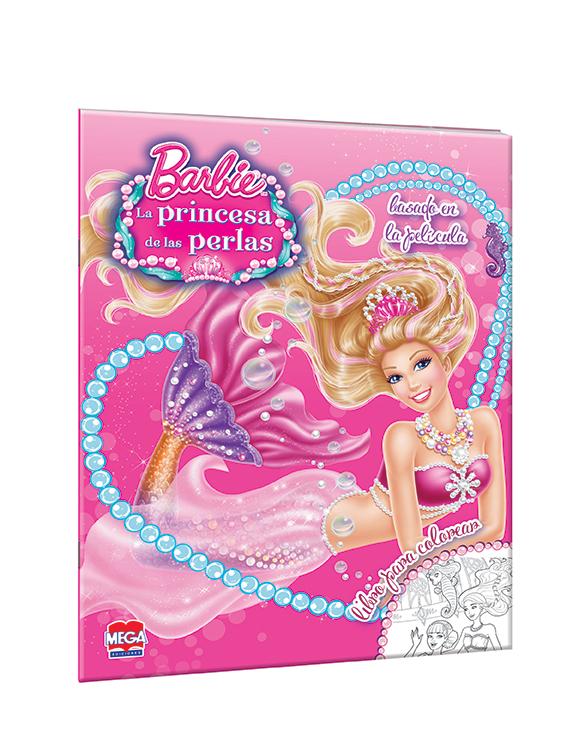 Barbie La princesa de las perlas. Libro para colorear
